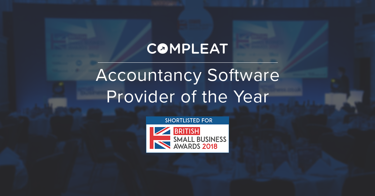 Compleat shortlisted as Accountancy Software Provider of the Year 2018